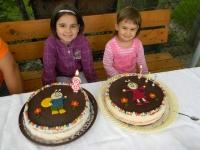 Dórika és Mónika tortája - Készítette: Dóri Anyukája