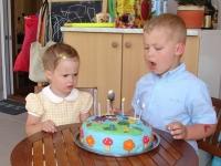 Bogyó és Babócás marcipántorta, Panna és Barnus születésnapjára - Készítette: Boér Boglárka