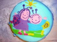 Réka Bogyó és Babóca tortája, 5. születésnapjára - Készítette: Anyukája, Barkai Krisztina