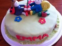 Emmának elsõ születésnapjára - A tortát készítette: Mottel Viktorné Andrea