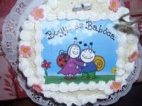 Liliennek 3.-szülinapjára Ki készítette a tortát: Bohém cukrászda