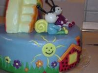 Kinek készült a torta: Sára 2. születésnapjára Ki készítette a tortát: Hermeszné Judit
