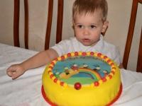 Csongor 3 éves születésnapi tortája, készítette:  Várbiró Judit