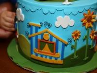Bálint elsõ születésnapi tortája, készítette édesanyja: Bozsó Judit